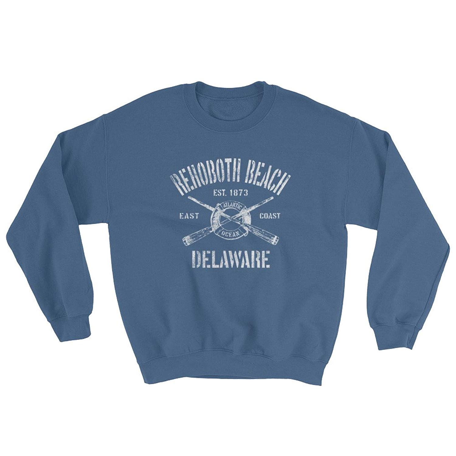 Jim Shorts Rehoboth Beach Delaware DE Sweatshirt - Vintage Nautical Boating Sailing Design