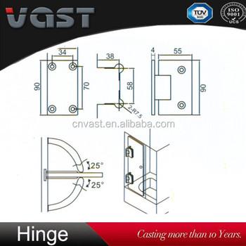 factory sale stainless steel glass shower door screen hingesglass clamp