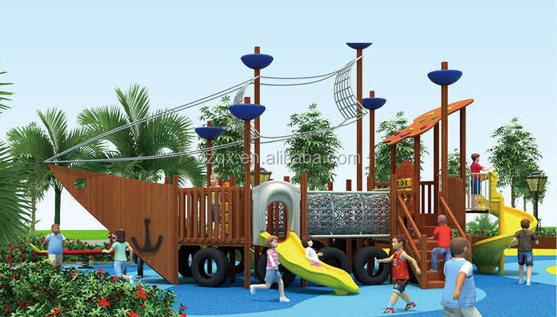 Newest Playground Toys For Bady Outdoor Children Wooden Pirate Ship Children Outdoor Gymnastic Equipment Qx 18067c Buy Playground Toys For