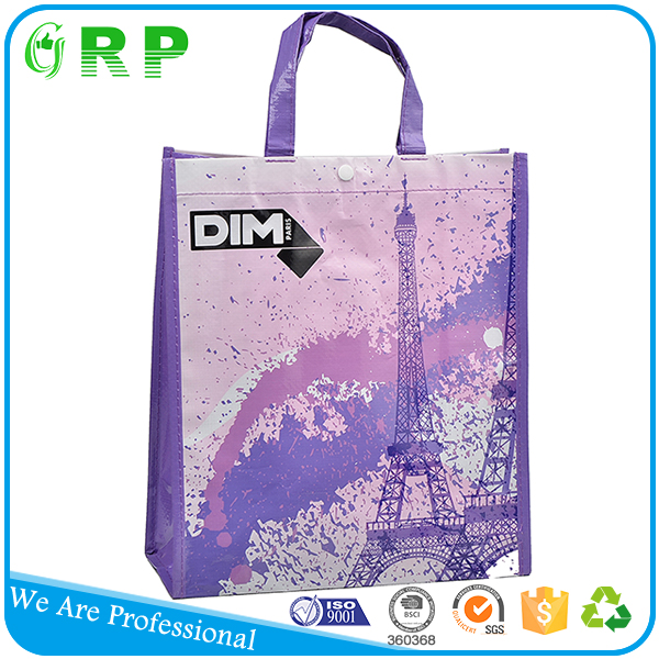 Recycled custom printing folding laminated vietnam pp woven shopping bags