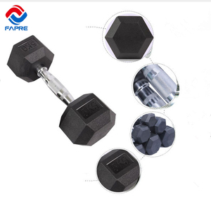 Manufacture Wholesale gym 10 lb rubber hex dumbbell