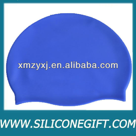 customize colors printed silicone swimming caps, promotion swim cap, kids swim cap
