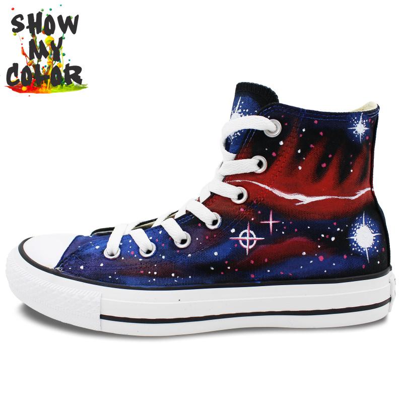 38c8f5e49108 Fashion Converse Shoes Galaxy Nebula Hand Painted Sneaker for Men Women  High Top Shoes Custom Converse