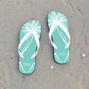 Customizable Personalized Custom Wedding Flip Flop For Guests