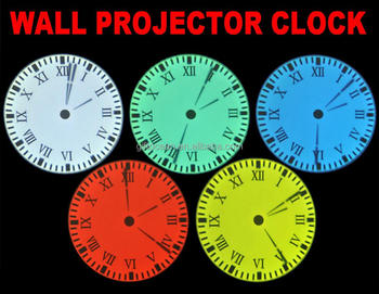 Analog Projection Clock, Ceiling Projector Clock, Night Light Projection  Wall Clock