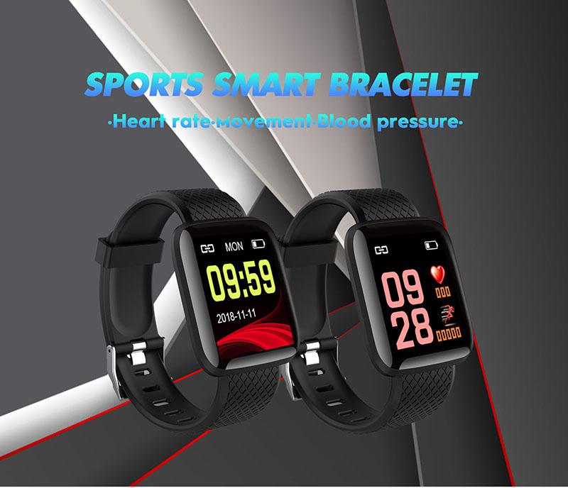 116Plus Waterproof Smart Watch Bracelet  Fitness Tracker Pulsera Inteligente With Heart Rate Monitor Watches Blood Pressure