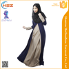 Zakiyyah 10002 Hot Sale Gamis Abaya Suppliers Elegant Color Stitching Muslim Long Sleeves Maxi Dress Lady