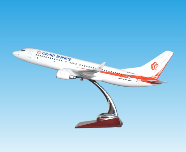B737-800 1:85 scale 46cm resin big model plane