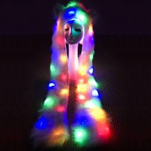 Fashion high quality fur comfortable led scarf and light up led boa