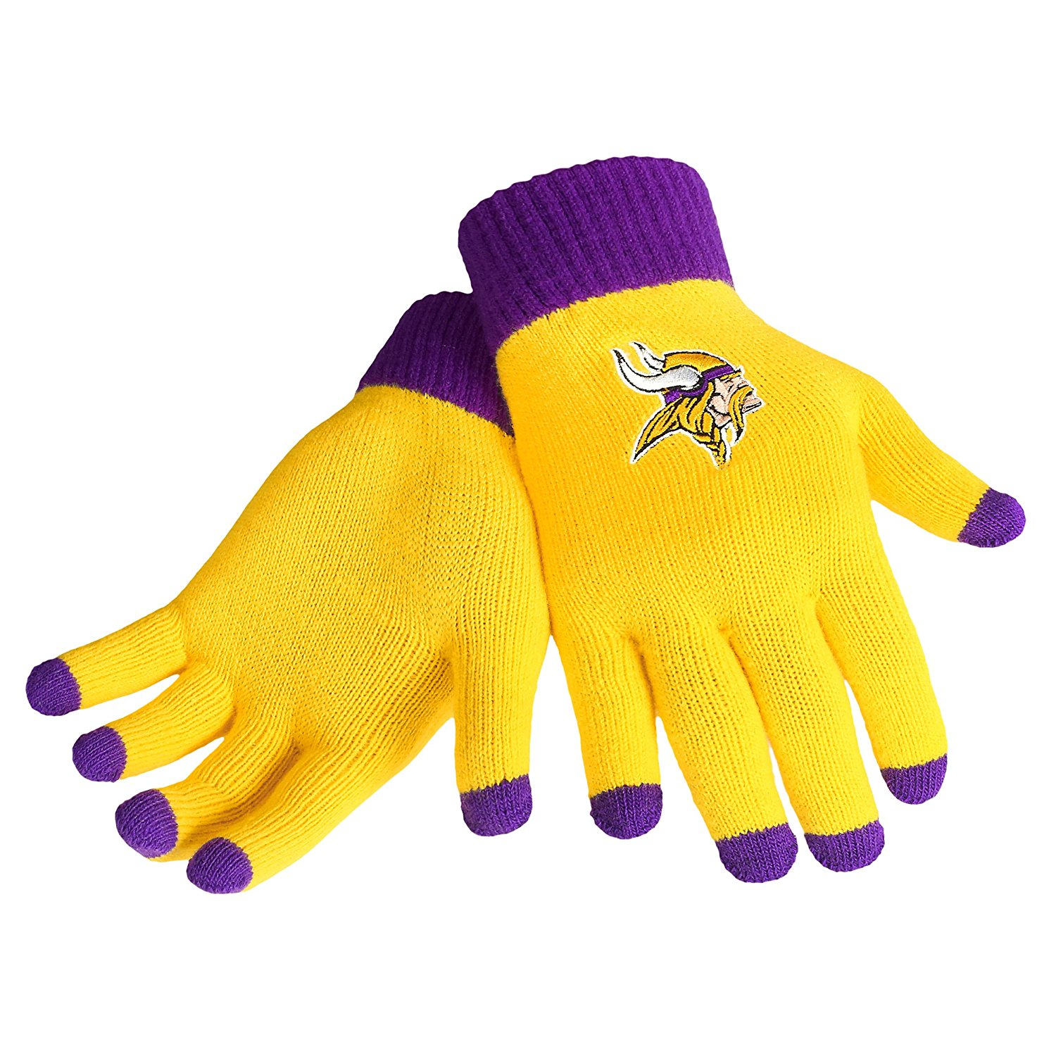 Buy Minnesota Vikings Gold And Purple Texting Gloves In