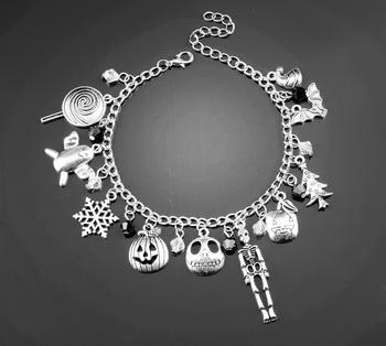 Nightmare Before Christmas Charm Bracelet Halloween Jack ...