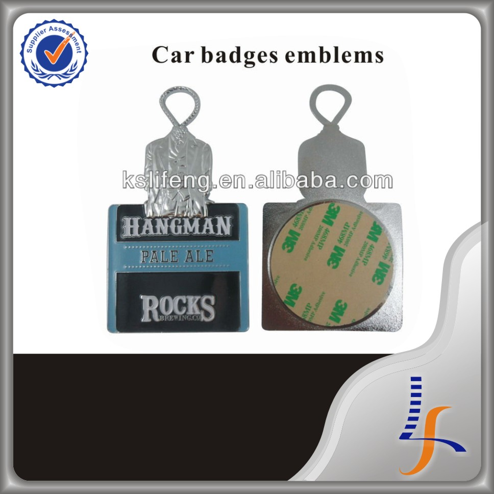 Custom car emblem badges with 3M Adhesive backed