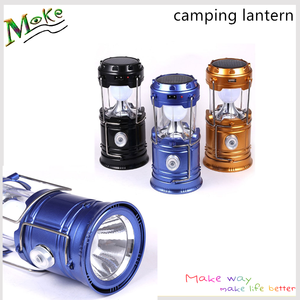 Christmas gift Outdoor camping lantern flashlights collapsible solar lanterns rechargeable led camp lights table lamp