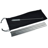 Good price stainless steel metal drinking straw with cleaning brush and bag