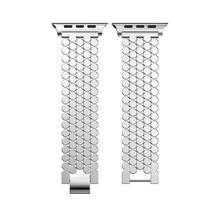 Роскошный стальной браслет для apple watch, ремешок для наручных часов, 44 мм/40 мм/42 мм/38 мм, для iwatch 5/4/2/1, металлический ремешок для наручных часов(Китай)