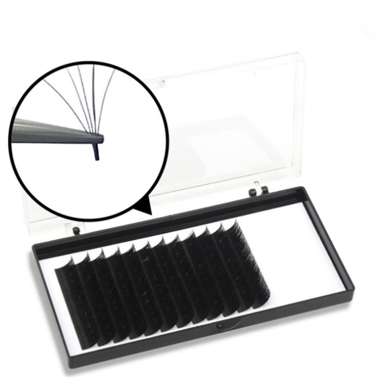 The Rapid Volume Quick Easy Fan Lashes Eyelash Extensions, Natural black