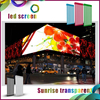 Aluminum Rental Stage Advertising indoor flexible Led display mesh curtain Screen