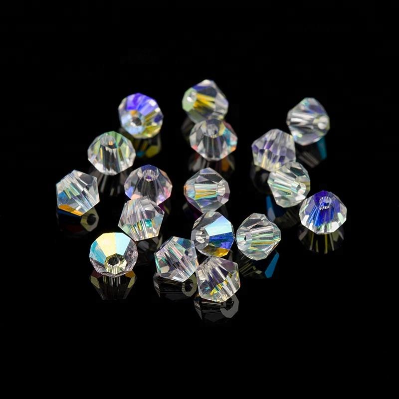 Holográfica AB 720 unidades/pacote Top Quality 4mm Cristal AB Contas Bicone Cristal