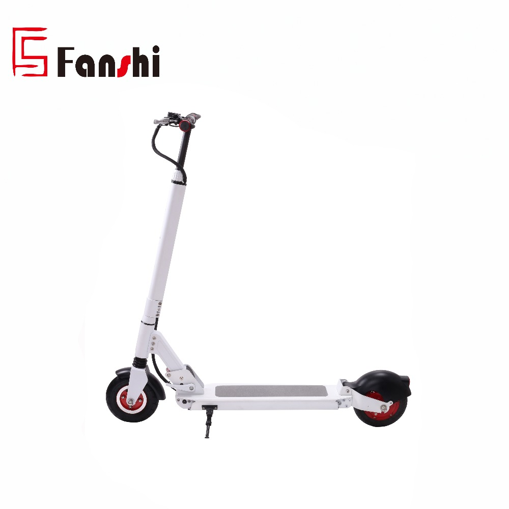 Cheap Adult 8inch 36V 350W 40KM distance White Foldable Electric Scooter 2 Wheel Stand up Li-ion Battery