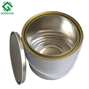 Malaysia steel tin paint bucket for gule tin can container