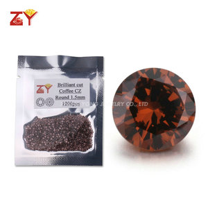 Wholesale Price Coffee Gemstone Brown CZ