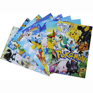 Pokemon Poster Anime Game Art Posters 8pcs/set Pocket Monster Pikachu Wall Picture