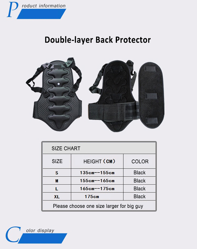 Light-weight Back Protector for Ski & Snowboard