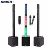 50W home theater bluetooth column speaker with wireless microphone