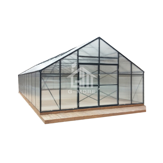 G-MORE 5Mx16M Polycarbonate sheet garden Greenhouse with aluminum profiles