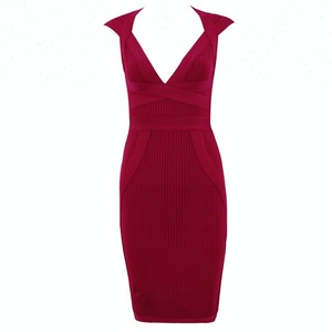 luxury high elasticity bandage dress ladies cap style dresses for casual night club