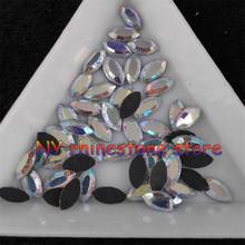 Diy, Strass hotfix, 100 pçs/saco, 3.5 mm * 7 mm, Limpar ab horse eye natator cristal strass para roupas, Sapatos, Calças, Vestido