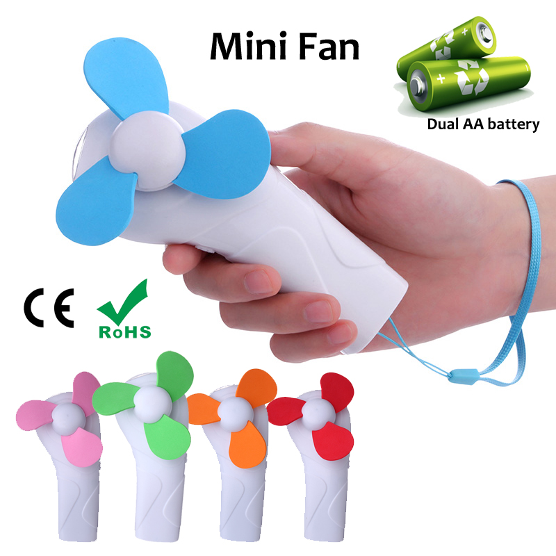 Mini portable handheld battery <strong>fan</strong> with led flash light
