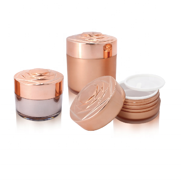 CX-M Luxe wit cosmetische acryl jar rose vorm lip lege cream container 15g 30g 50g
