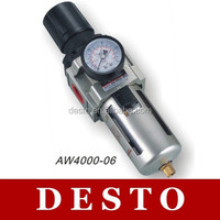 AW Series Pneumatic Air Compressed Filter + Regulator for Valves, Cylinders