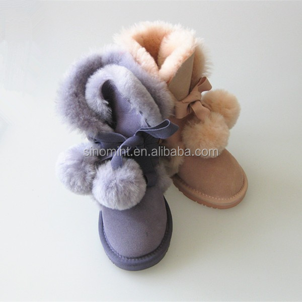 sheepskin pvc child boot with high quality on alibabaexpress
