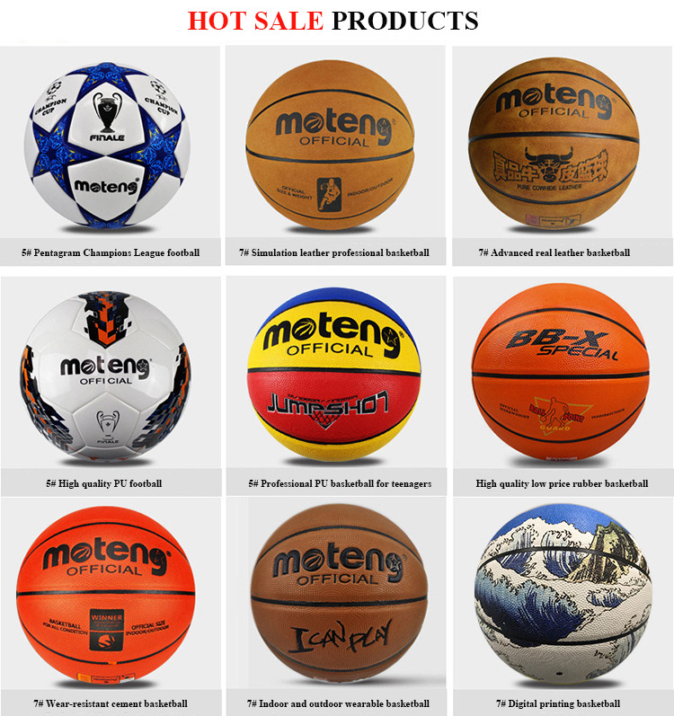 High Quality Hygroscopic PU Leather Basketball for Training