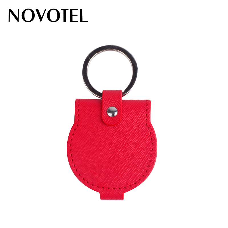 Souvenir Gift saffiano leather key holder heart shaped photo frame keyring