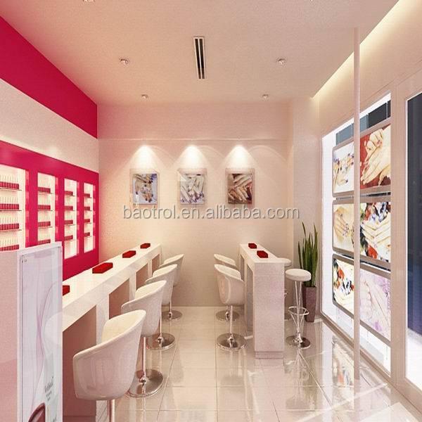 De tama o personalizado moderno muebles de sal n de u as for Mobiliario de salon moderno