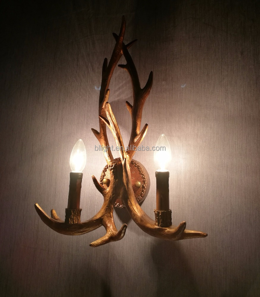 Design resin wall lamp deer antler chandelier BLLJ-003