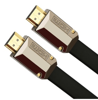 Flat 4K HDMI Ultra Premium High Speed HDMI Cable with Ethernet,Support 3D 4K 1080P for Apple TV-3D Gaming, Xbox,PS3