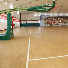 Low cost sound proof high gloss basketball laminate flooring with CE/ISO
