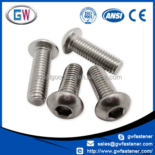 Stainless Steel Factory Price ISO 7380 socket button head cap screws