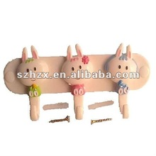 fine workmanship 3 plastic rabbit wall hook