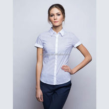 Wholesale ladies camisa, women wear, oficina uniforme diseña para las mujeres blusa