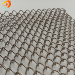 Metal chain link mesh steel curtain Has adopted ISO Certificate