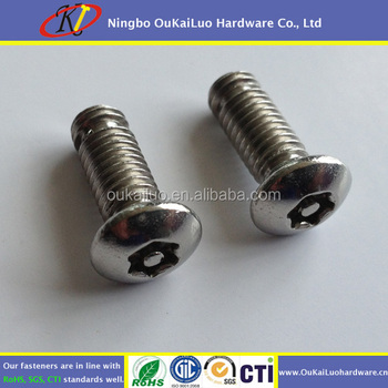 Inox M6 Security Screw Torx