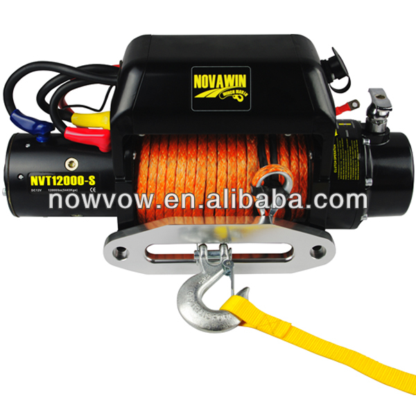 4x4 electric winch synthetic rope 12000lbs NVT12000-S-S
