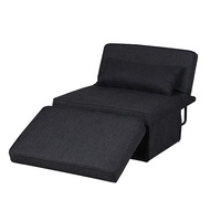 Sofa Bed Folding Convertible Sleeper Bed Chair Full Padded Lounge Couch Bed For Guest Adjustable Single Sofa Chair