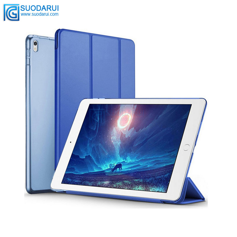 New Three Folded Smart cover case for <strong>ipad</strong> Pro 10.5 2017 with wake & Sleep function