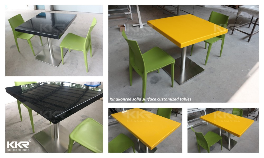 Good Wholesale Mcdonalds Furniture Acrylic Solid Surface Stone Dining Table And  Chair
